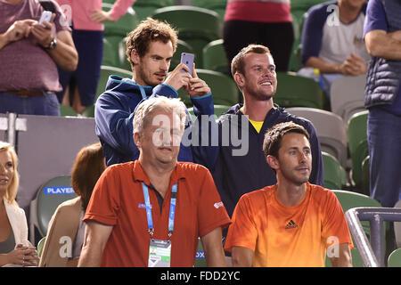 Melbourne Park, Melbourne, Australia. 30th Jan, 2016. Australian Open tennis championships. Mens Doubles final. - Stock Photo