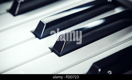 Details of a modern keyboard, closeup view on keys. - Stock Photo