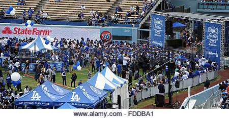 Los Angeles, California, USA. 30th Jan, 2016. The fourth annual offseason FanFest on Saturday, Jan. 30, 2016 in - Stock Photo