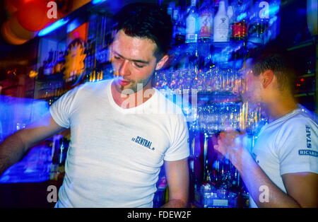 Paris france gay bar with crowded dance floor interactive video stock photo royalty free - Bar le central ...