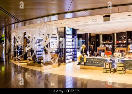 Duty Free Shopping, Hamad International Airport, Doha, Qatar - Stock Photo