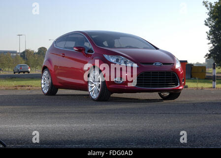 2007 Ford Verve concept car which became the Mk6 sixth generation Ford Fiesta - Stock Photo