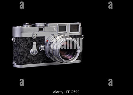 Film Camera. Legendary vintage Leica M3 film camera - Stock Photo