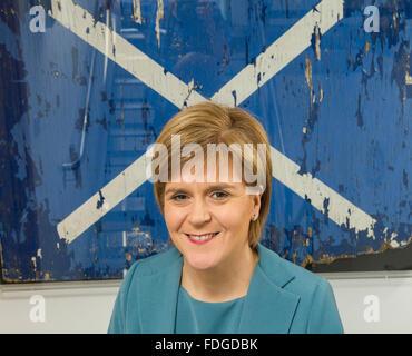 IR20150429. 29/04/15. Nicola Sturgeon, First Minister, Politics, Scotland, SNP. UK General Election 2015, Scotland's - Stock Photo