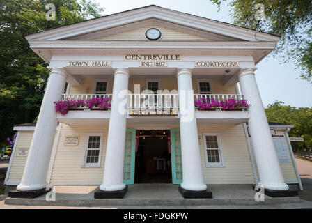 The Centreville town hall and courthouse facade near the entrance of the Centreville Amusement Park on the Toronto - Stock Photo