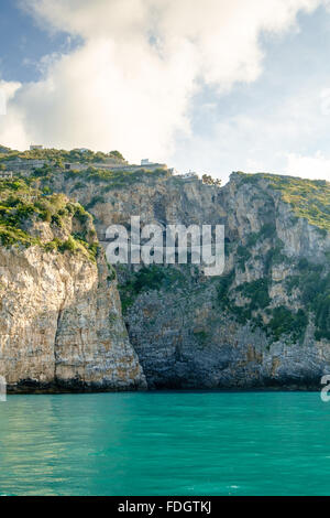 Sorrento Peninsular from the Gulf of Salerno - Stock Photo