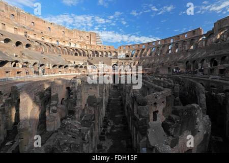 The Colosseum or Coliseum or Flavian Amphitheatre in Rome, Italy;  (Latin: Amphitheatrum Flavium); Anfiteatro Flavio or Colosseo