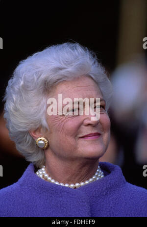 Washington, DC., USA,  1990 First Lady Barbara Bush  Barbara Pierce Bush is the wife of the 41st President of the - Stock Photo