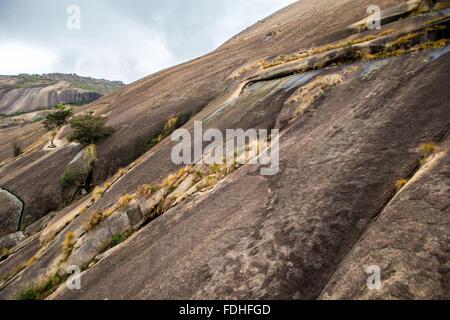 Sibebe Rock in Mbabane in Swaziland, Africa - Stock Photo