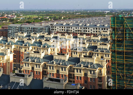 Hangzhou. 22nd Apr, 2015. Photo taken on April 22, 2015 shows a real estate project in the Nanxun District of Huzhou - Stock Photo