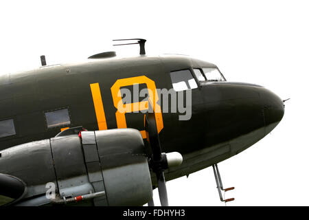 Douglas C-47A Skytrain, military version of the DC-3 Dakota - Stock Photo