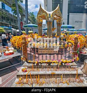 Erawan Shrine. Bangkok, Thailand. - Stock Photo