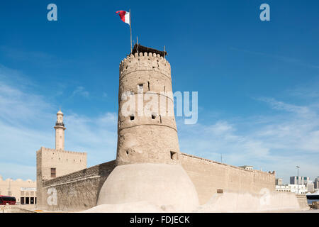 Al Fahidi Fort, Dubai Museum, Dubai, UAE - Stock Photo