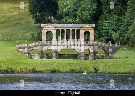 ... The Palladian Bridge At Prior Park Landscape Garden, Bath. The Bridge  Was Built In