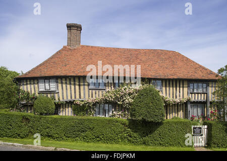 The early sixteenth-century half-timbered house, Smallhythe Place, the home of actress Ellen Terry from 1899 to - Stock Photo