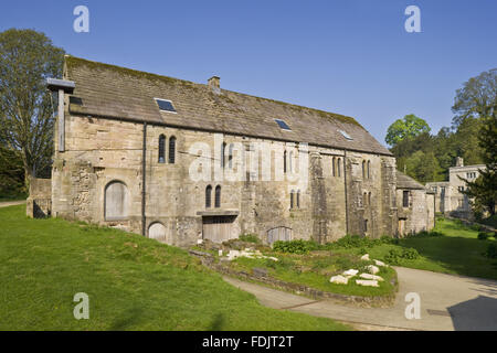 Fountains Mill, the oldest building on the Fountains Abbey estate in North Yorkshire. The twelfth century cornmill - Stock Photo