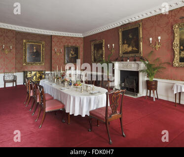 dining room in 19th century house, hadlow, kent stock photo