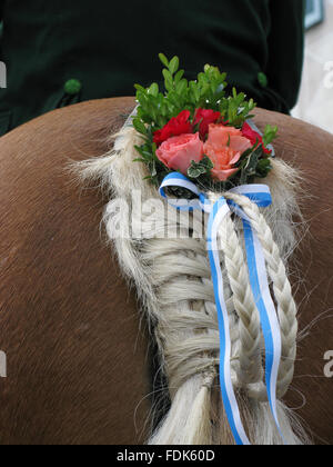 tradition,customs,leonhardi ride - Stock Photo