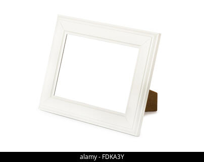 Desktop picture frame on a white background - Stock Photo