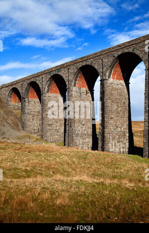 Arches of the Ribblehead Viaduct Ribblehead Yorkshire Dales England - Stock Photo