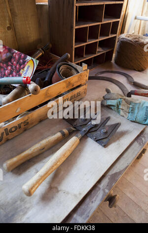 Victorian Potting Shed Amp Tools Stock Photo 72460818 Alamy
