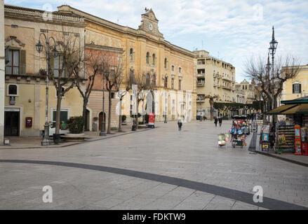 Piazza Vittorio Veneto, Matera, Basilicata, Italy - Stock Photo