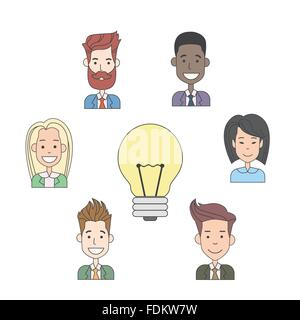 Business People Group Idea Concept Light Bulb - Stock Photo