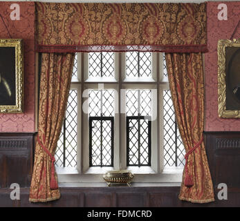 Window, Wallpaper And Curtains In The Dining Room At Gawthorpe ...