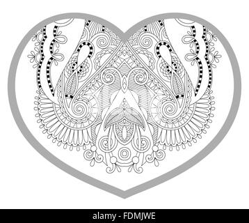 heart shaped pattern for adult and older children coloring book ...