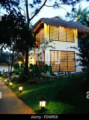 Exterior of Prana restaurant at Mandala Spa and resort. Boracay, Philippines - Stock Photo