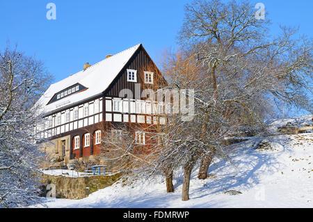 umgebindehaus - Stock Photo