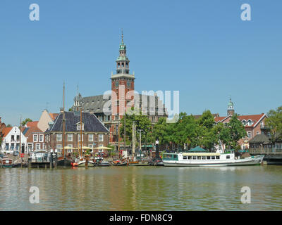 harbour,old town,empty,ostfriesland - Stock Photo