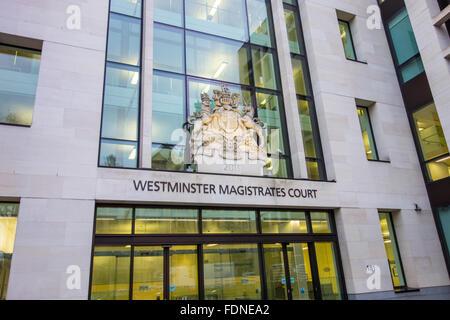 Westminster Magistrates' Court, Marylebone Road, London, UK - Stock Photo