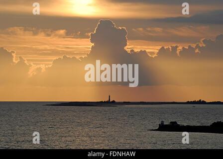 cloudscape,sunset,fehmarn - Stock Photo