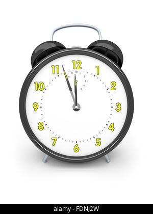 alarm clock,five to twelve - Stock Photo