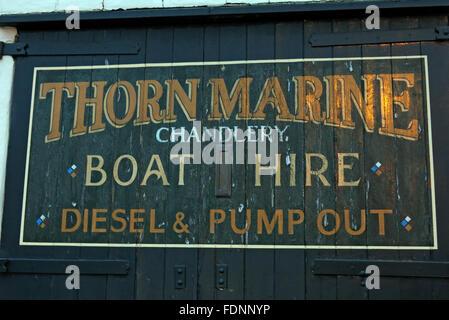 Thorn Marine Chandlery,Stockton Heath,Warrington,Cheshire,England,UK - Stock Photo