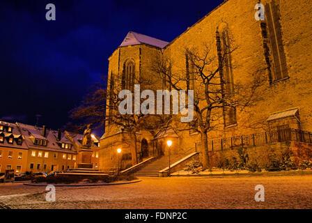 church hall,annaberg buchholz,st. anne's church - Stock Photo