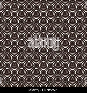 Seamless colorful abstract modern concentric circles texture, background pattern - Stock Photo
