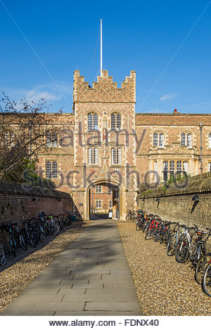 Jesus College Gatehouse, Cambridge - Stock Photo