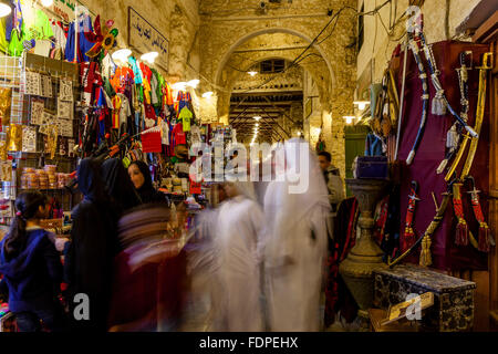 Colourful Shops In The Souk Waqif, Doha, Qatar - Stock Photo