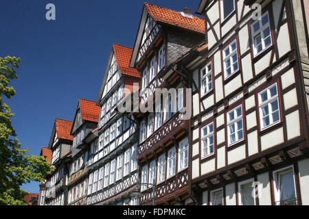 old town,timbered,hann münden - Stock Photo