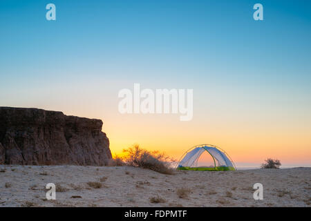 Camping at Font's Point in Anza-Borrego Desert State Park, California - Stock Photo