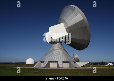 parabolic,earth station raisting - Stock Photo