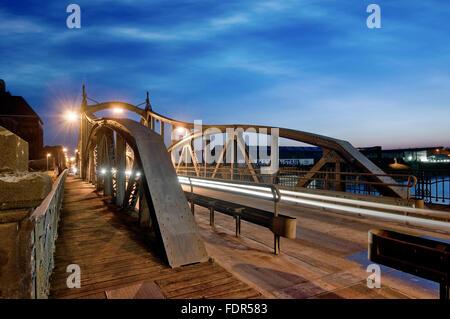 swing bridge,krefeld - Stock Photo