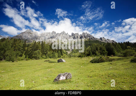 mountain range  ,high king,berchtesgaden alps - Stock Photo