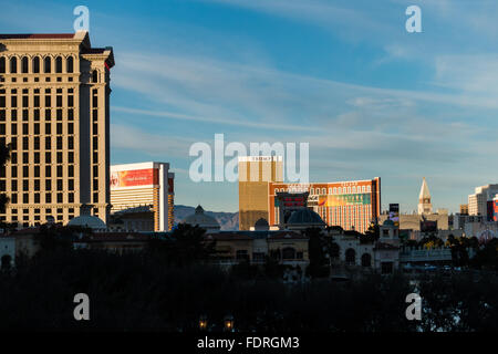 View of the Trump Hotel in Las Vegas, Nevada, USA - Stock Photo