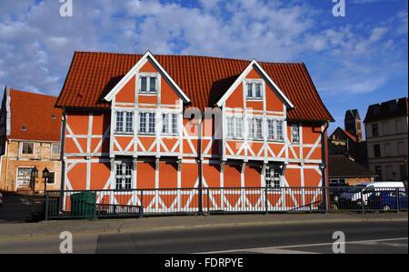 wismar,timbered,bridgehouse - Stock Photo