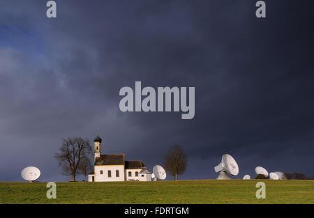 radio station,satellite,radio telescope - Stock Photo