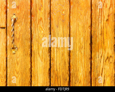 Old wooden planks cracked, moss on a rustic background - Stock Photo