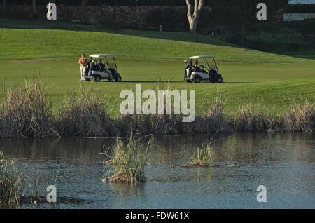 Golf Course in Quinta do Lago, Algarve, Portugal - Stock Photo